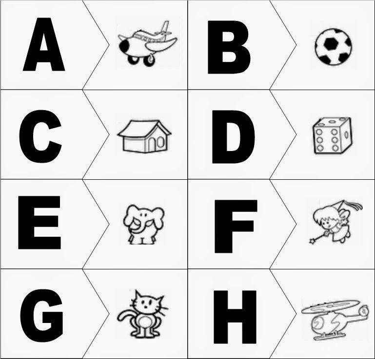 Domino Letra Inicial E Desenho Atividades Alfabetizacao E