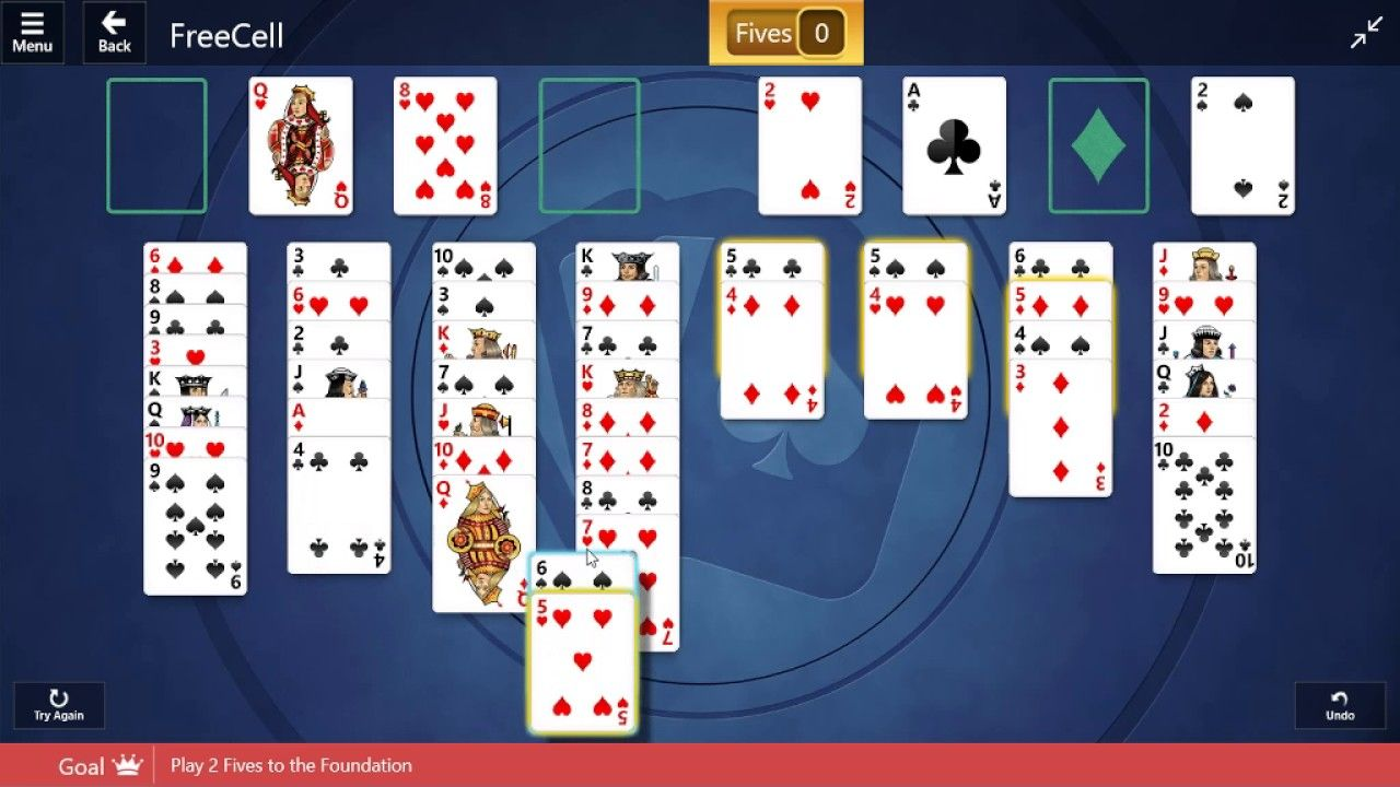 Microsoft solitaire collection freecell medium 13th