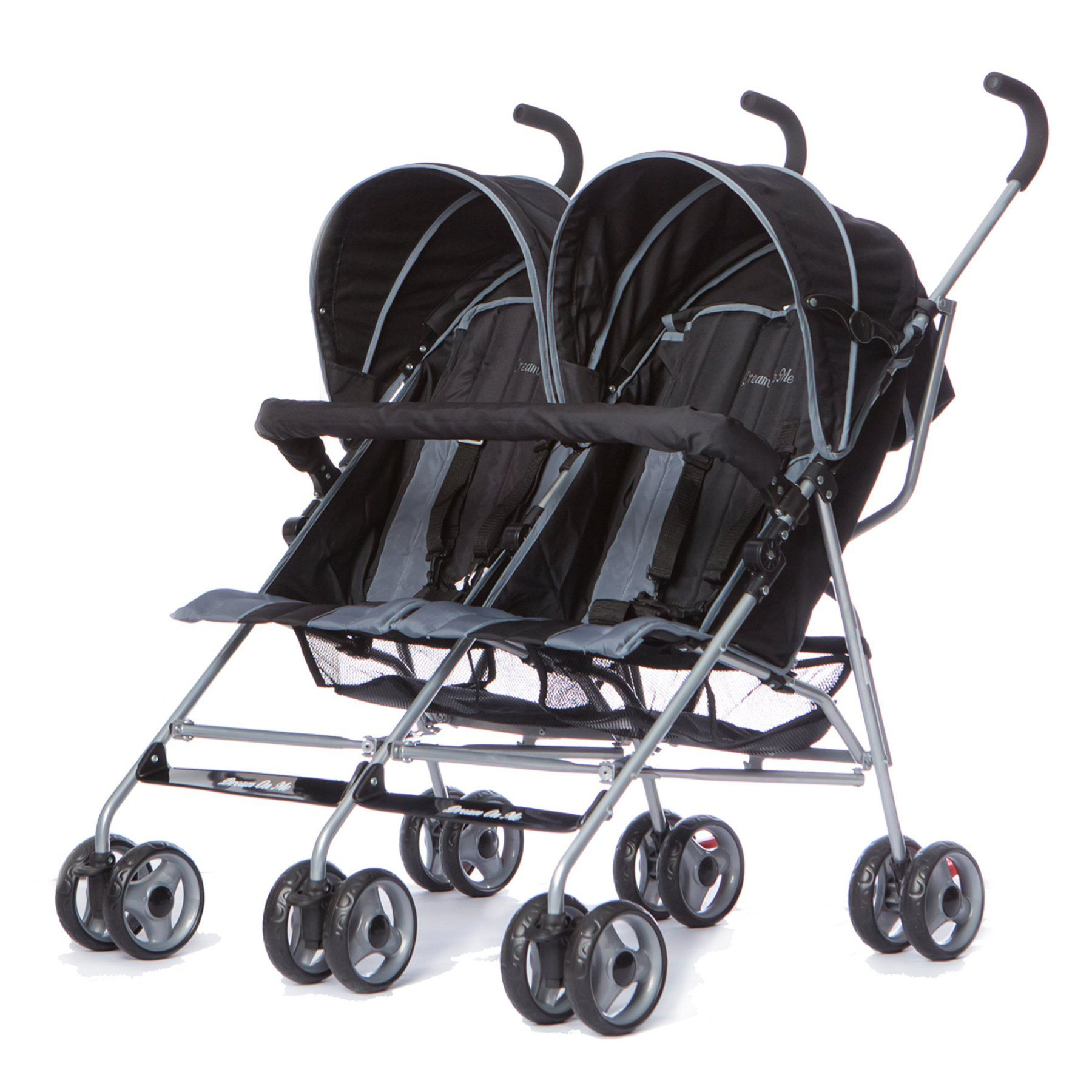 Dream On Me Twin Stroller Deep Gray 447DG Twin