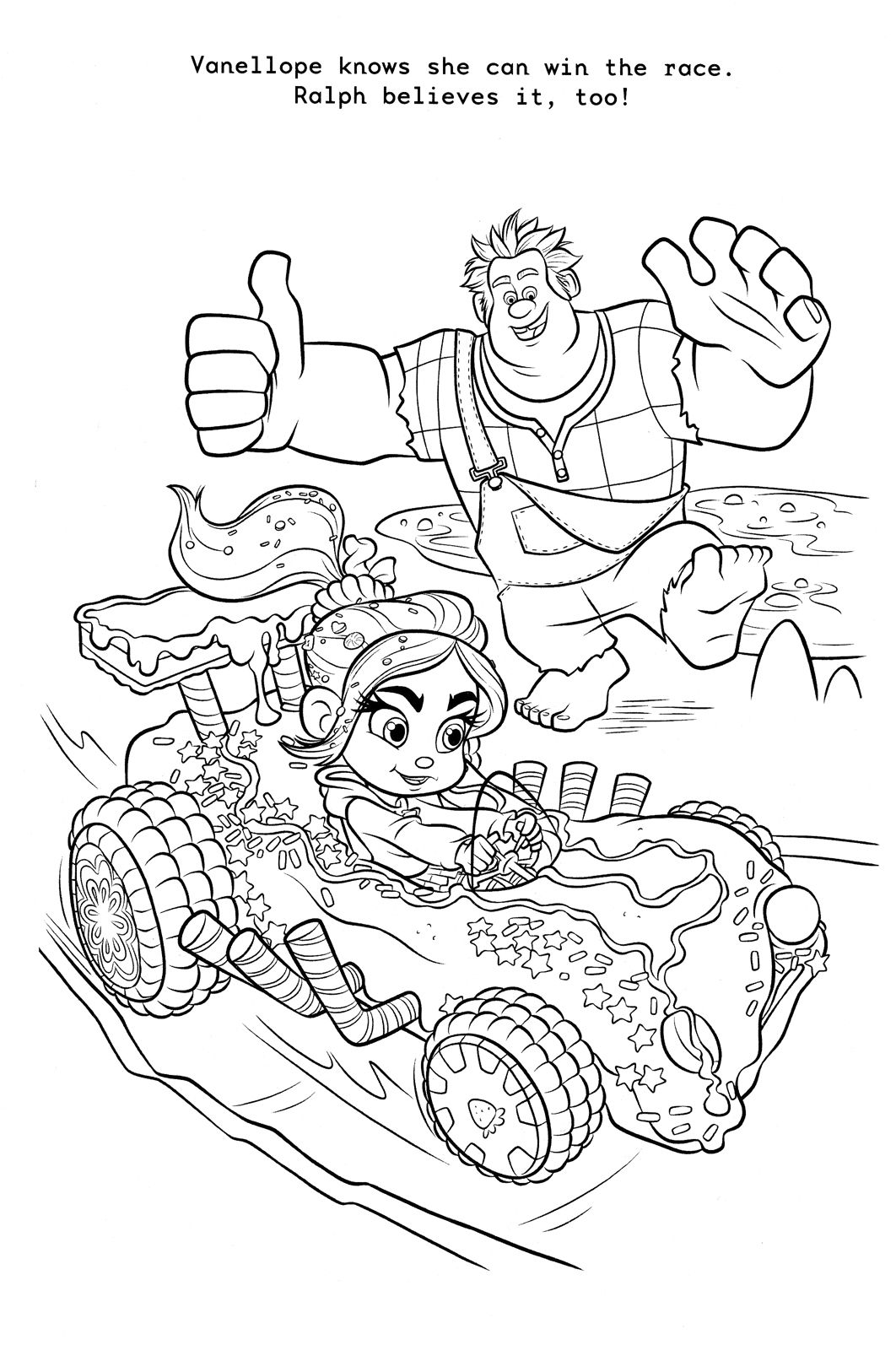 Wreck It Ralph Coloring Page Of Ralph And Vanellope Disney
