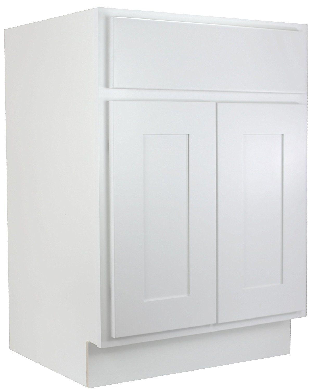 Amazon.com: Cabinet Mania: White Shaker 24 Inch Bathroom Vanity ...