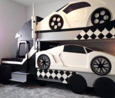 Sports Car Bunk Bed Kid Beds Car Themed Bedrooms Cool Beds