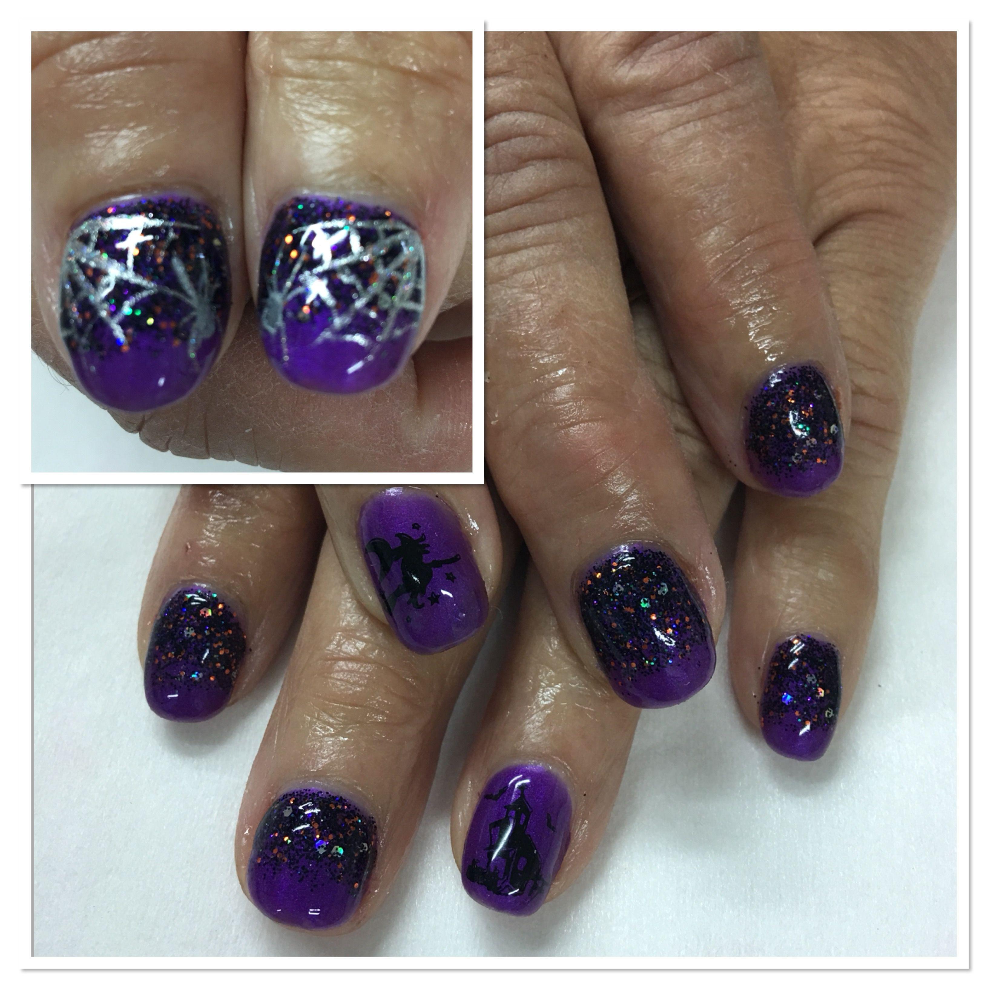Halloween Black & Purple Light Elegance Black Magic ...