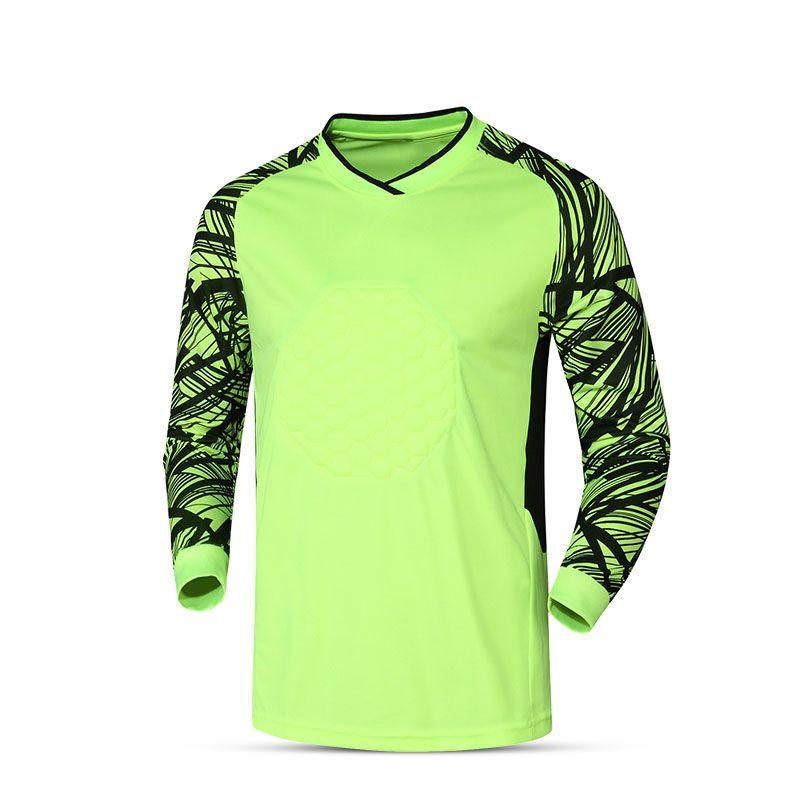 Mens Goalkeeper Goalie Soccer Keeper Foam Padded Jersey Long-Sleeve Tops  Shirt dc6d257a648a7