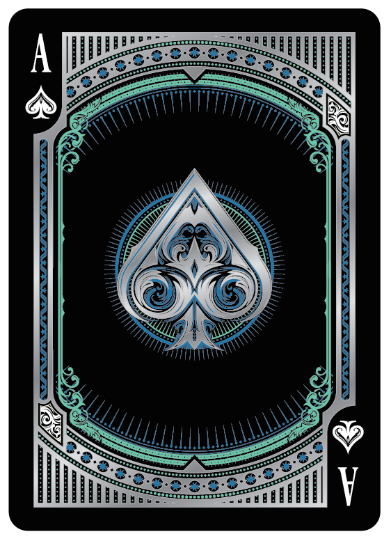 Alloy Cobalt Playing Cards Ace Of Spade Playing Cards Art Ace Card Cool Playing Cards