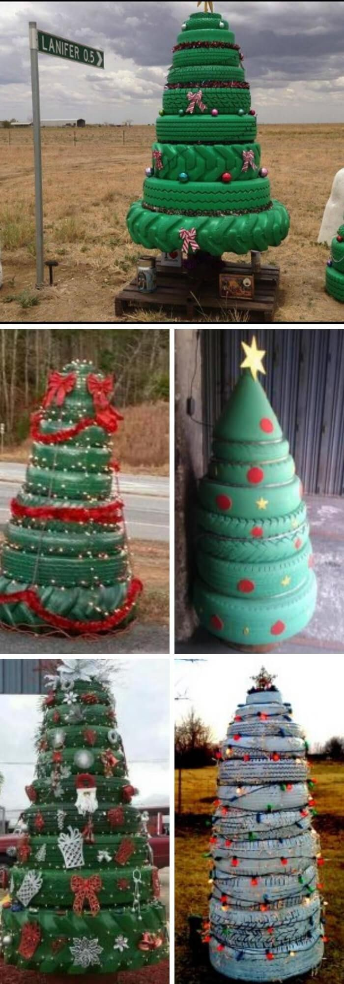 13 Best Recycled Tire Christmas Decoration Ideas For 2020