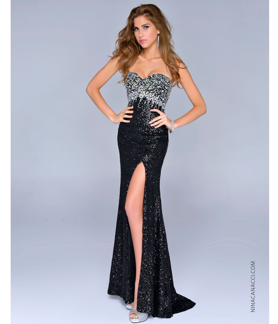 Black and silver party dresses