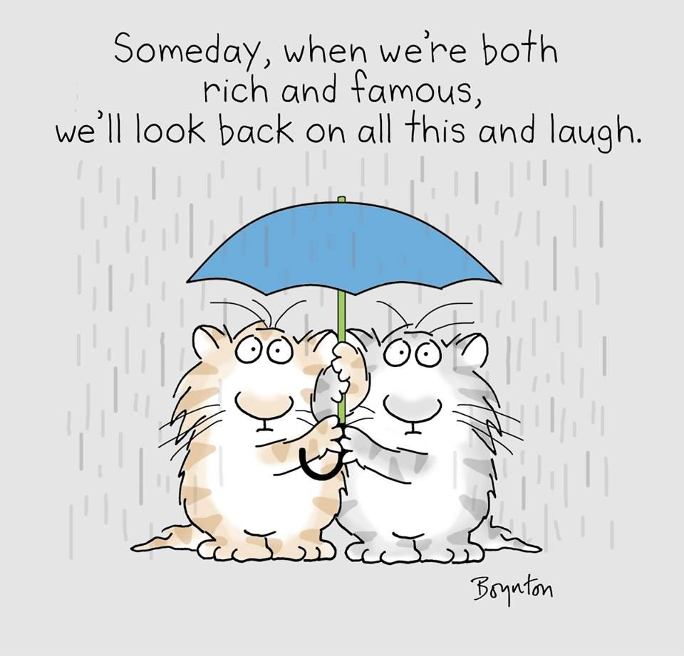 Thought for a rainy day.  ☂