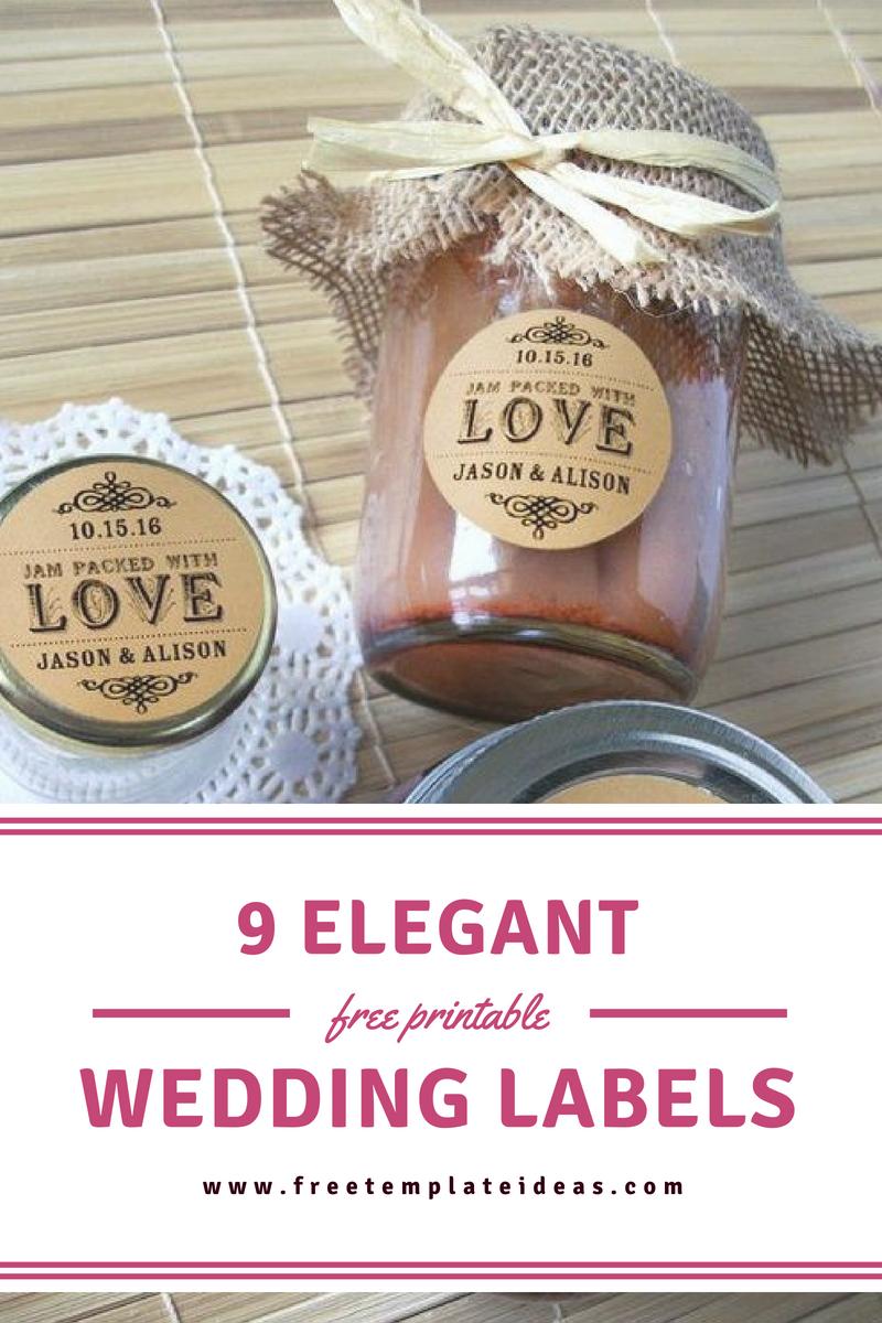9 Elegant Free Printable Wedding Labels Free Wedding Card Template