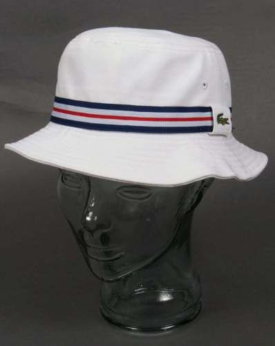 Lacoste Bucket Hat In White Pique Cotton Sun Hat Cricket Festival Hats Men S Accessories Hats For Men Lacoste Mens Bucket Hats
