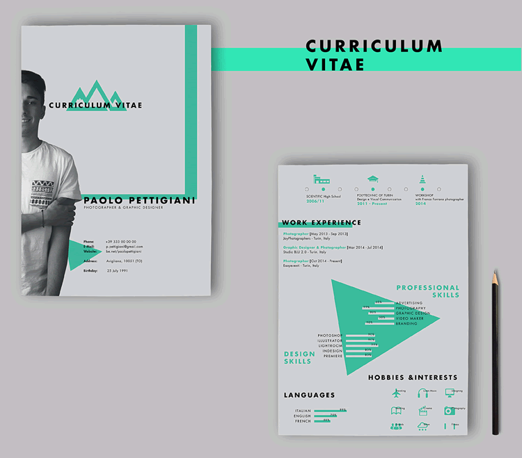 20 Beautiful & Free Resume Templates for Designers | Resume Design ...
