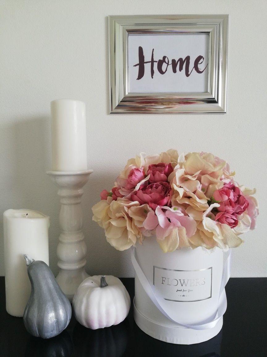 Flower Box Jesien Autumn Hortensje Home Flowers Flowers Decor