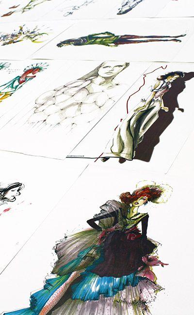 Mode Design Schule | Modeillustration Modefigurine Modedesignschulemanuelfritz Www