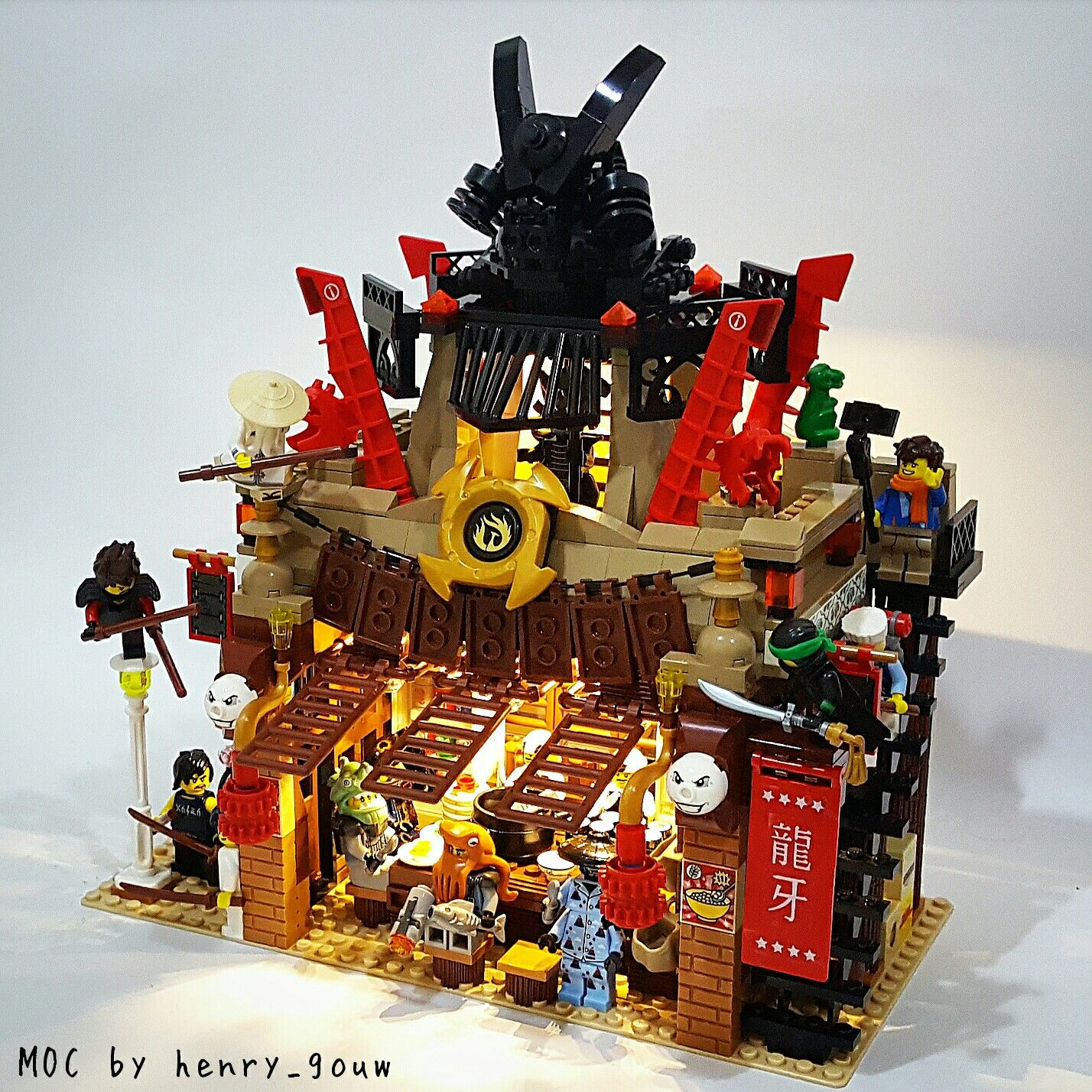 The lego ninjago movie set 2017 garmadon 39 s restaurant - Lego ninjago logo ...