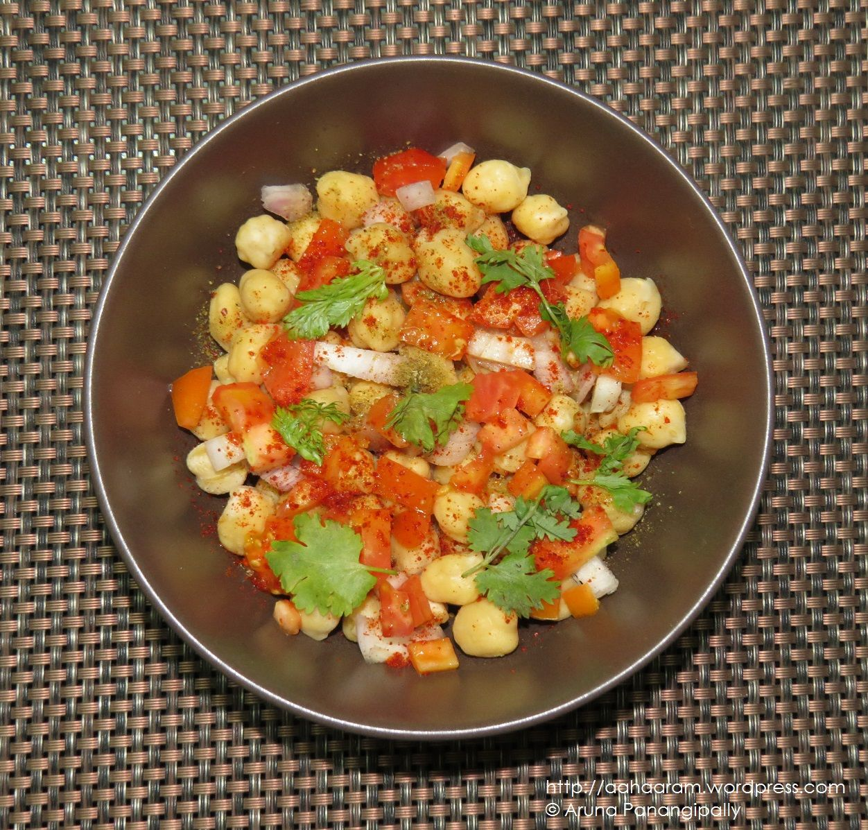 Chickpea Salad No Oil, Low Calorie, High Protein, High