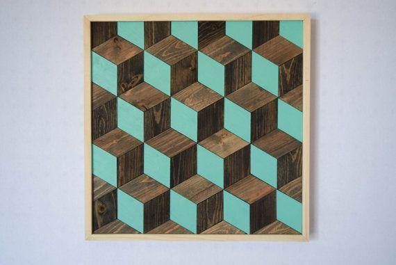 Wood Wall Art Hanging Wall Art 3d Cube Optical Illusion Design Modern Home Decor Minimalist Art Abstra Decor Inspiration Diy Wood Wall Art Home Decor