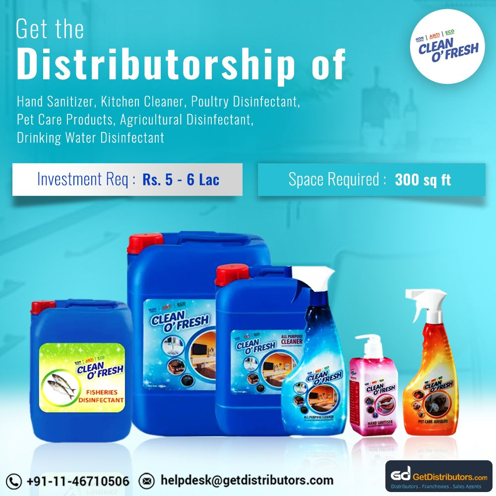 Get the distributorship of Hand Sanitizer, Kitchen