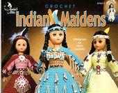 Redbud Cottage Vintage Patterns Supplies & Collectibles by RedbudCottage #indianbeddoll