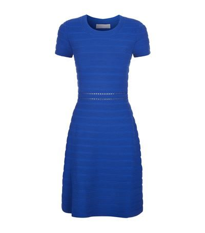 MICHAEL MICHAEL KORS Ottoman Ribbed Knit Skater Dress. #michaelmichaelkors #cloth #