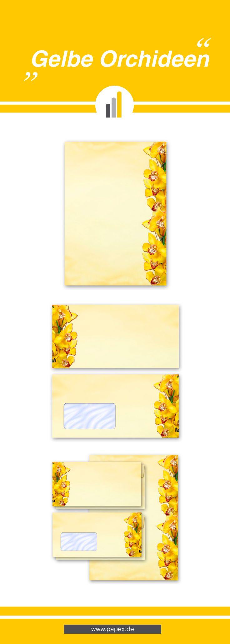 Briefpapier / Motivpapier GELBE ORCHIDEEN - Sagen Sie es »durch die Blume« mit unseren variantenreichen Blütenmotiven oder Designs aus vielen anderen Themenbereichen, um einem persönlichen Schreiben den richtigen Rahmen zu verleihen. Das Verwenden Sie unsere Produkte als Werbewirksame Zielgruppenmailings, Weihnachtsgrüße, für Angebote, als Saison-Briefpapier, für Einladungen, Glückwünsche, Speisekarteneinlagen, Aktionsprogramme, Feste, als Aushang im Schaufenster und für weitere tausend…