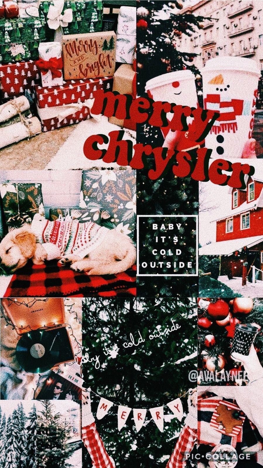 Vsco Avalaynee Cute Christmas Wallpaper Christmas Collage Wallpaper Iphone Christmas