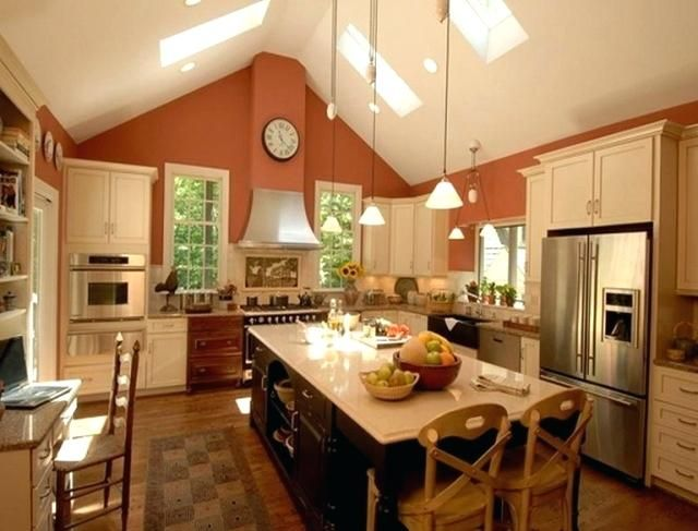 Lighting Ideas For Vaulted Ceilings Kitchen Lighting Ideas Vaulted