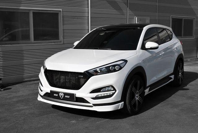 Hyundai tucson 2018 white tuning