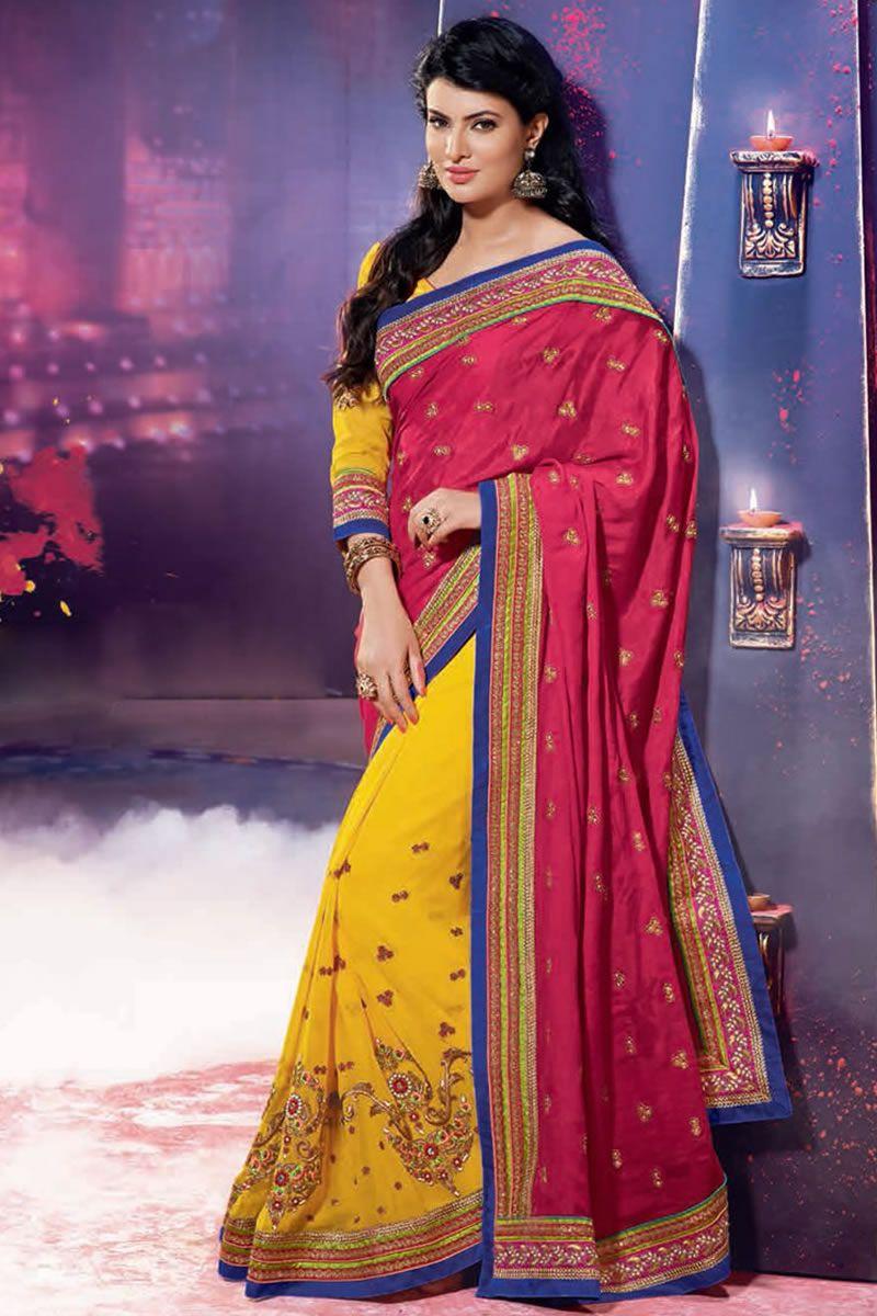 Lehenga saree for wedding bride red color designer wedding bridal lehenga saree  things to wear