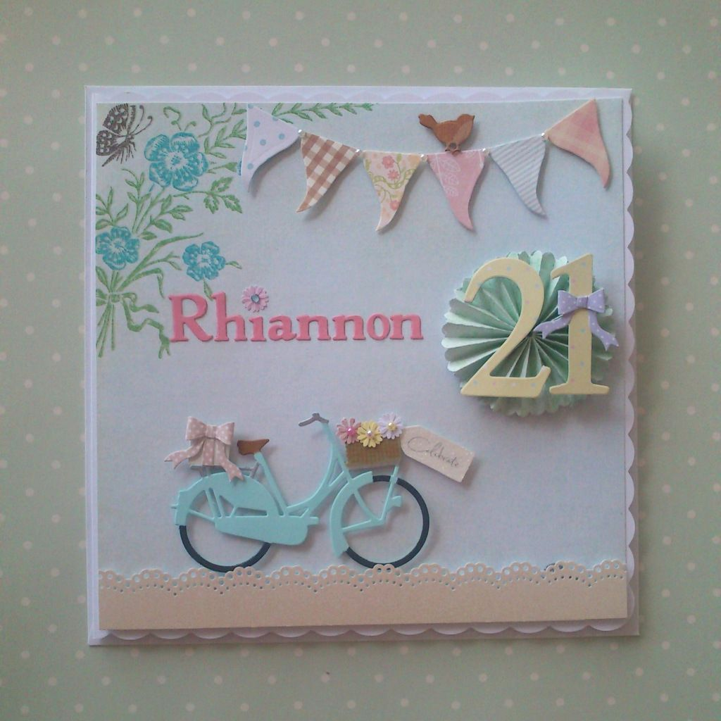 Bespoke Vintage Bicycle 21st Birthday Card From Spotty Daisy 21st Birthday Cards Birthday Cards Bday Cards