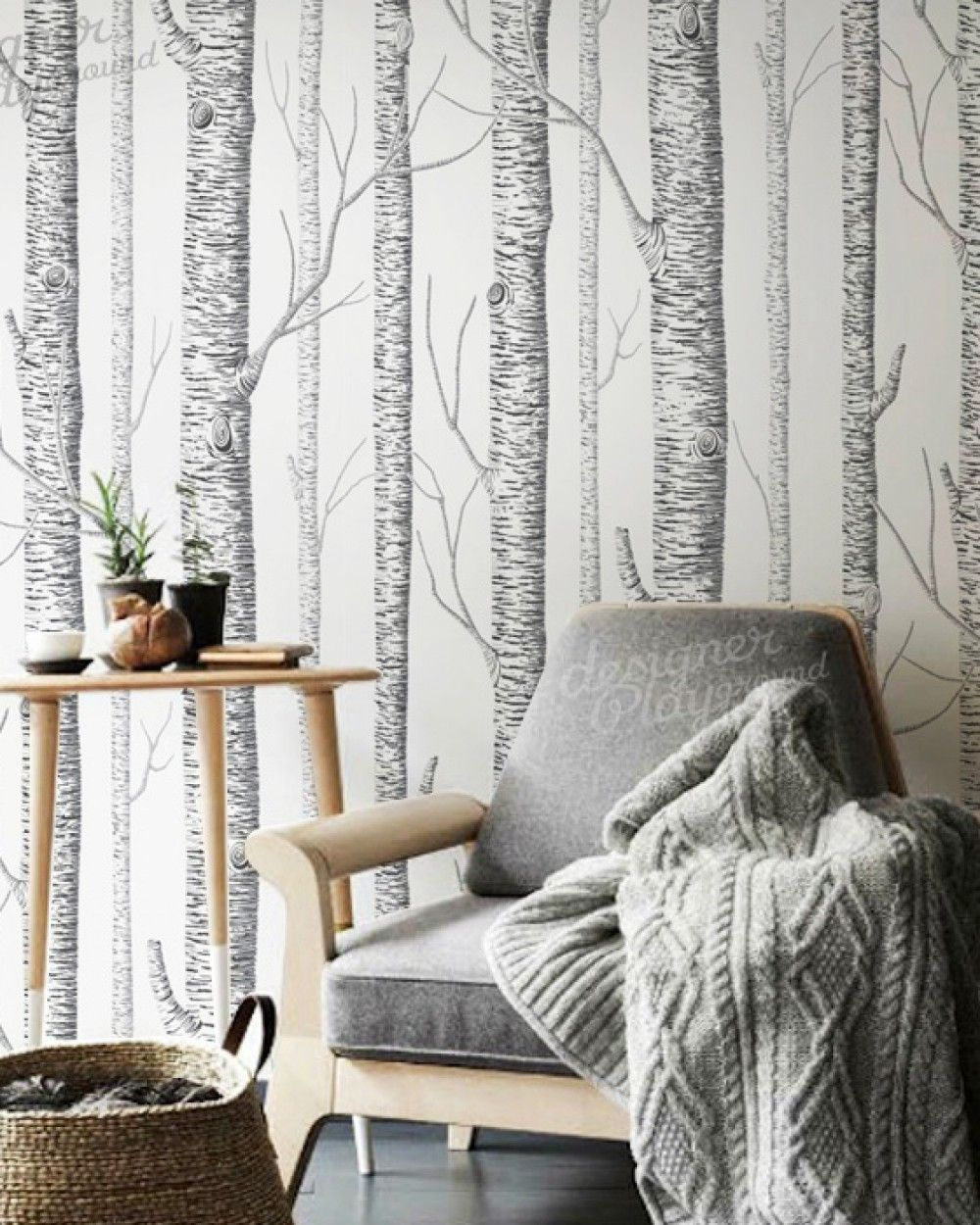 Birch Trees Wallpaper Peel & Stick (With images) Birch