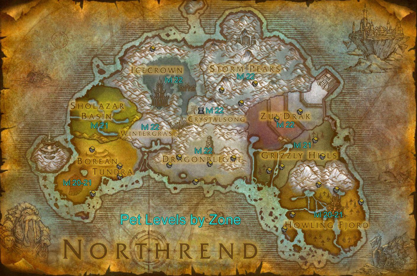 Northrend Warcraft Map Warcraft World Of Warcraft