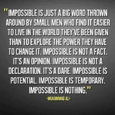 #leadershipquotes #impossible #possibility #muhammadali #quotes #business #leadership #manuelwernicky http://www.pinterest.com/pin/80572280806186980/