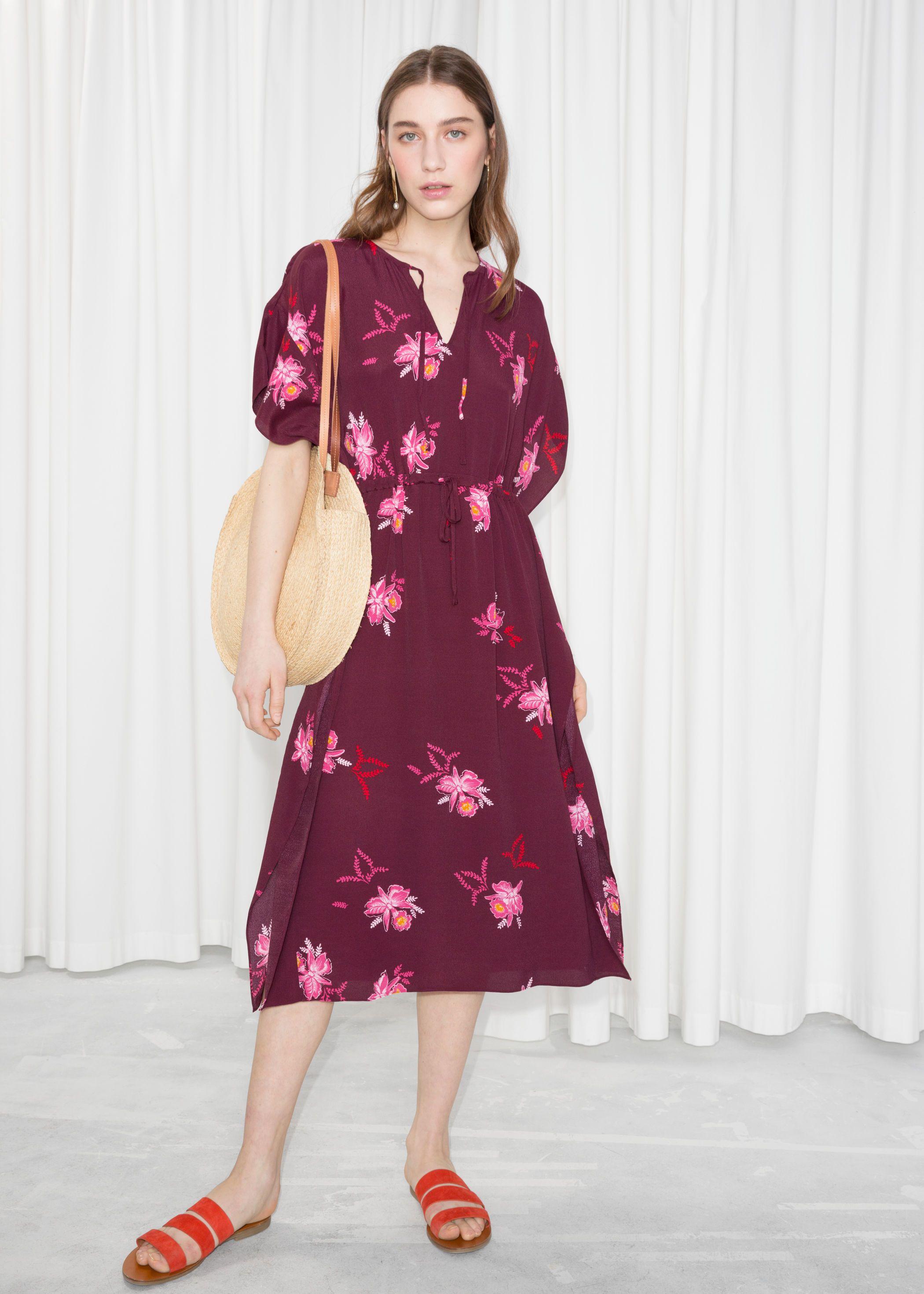 Printed Midi Kaftan Dress Dresses Kaftan Dress Clothes For Women [ 2940 x 2100 Pixel ]