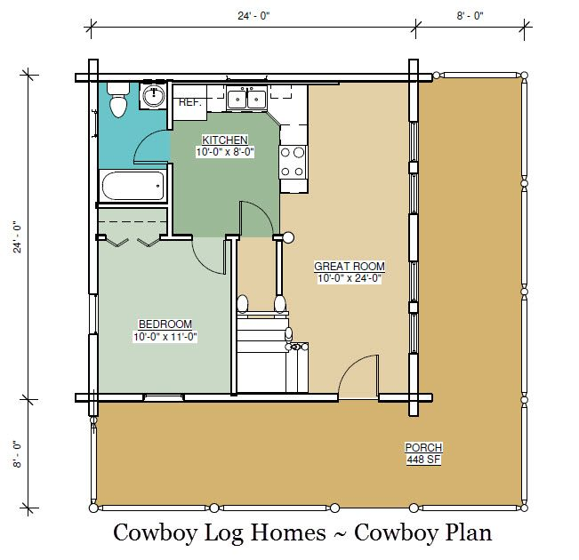cowboy log home floor plan | Cabinas y casas A frame | Pinterest ...