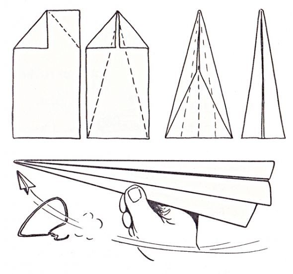 Easy Paper Airplane Instructions For Kids Camper