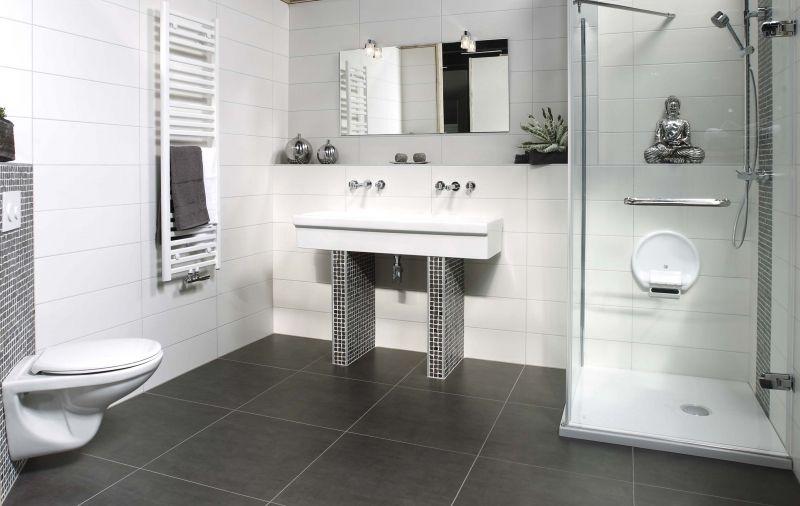 Badkamer badkamertegel wit inspirerende foto 39 s en idee n van het interieur en woondecoratie - Idee tegel douche ...