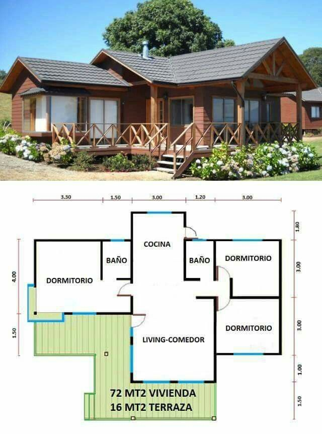 Log homes | Casas Prefabricadas en Chile | Pinterest | Casas, Planos ...