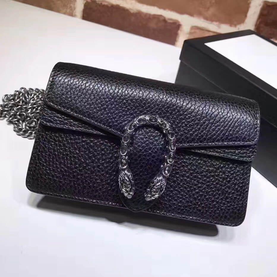 08c92af09ef5 Gucci Dionysus Leather Super Mini Bag 476432 Black 2017 #purses2017 ...