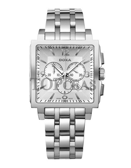 Ceasul Doxa Quadro Steel Silver