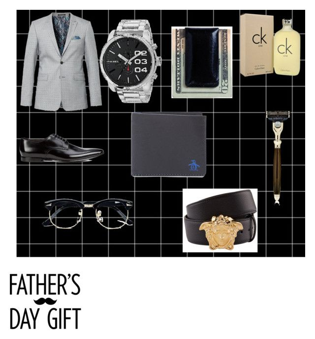 """Father's day"" by akira23 ❤ liked on Polyvore featuring Ted Baker, Paul Smith, Diesel, Original Penguin, Moore & Giles, Versace, Calvin Klein, The Art of Shaving, Topman and men's fashion"
