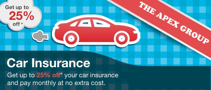 Get up to 25% #off on  your #car #insurance.  The Apex Group