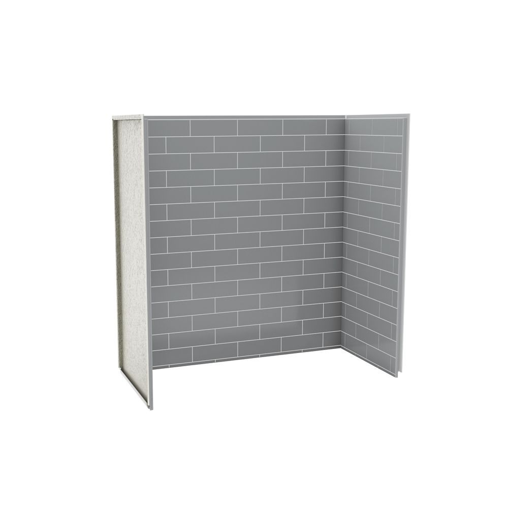 Utile Tub Shower Wall Kit 6030 Metro Ash Grey | Shower wall kits ...