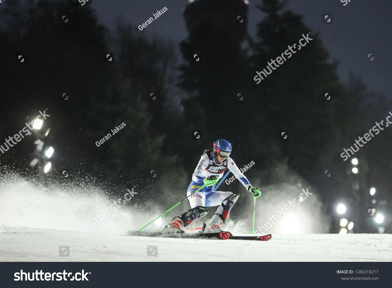Zagreb Croatia January 5 2019 Petra Vlhova From Slovakia Competes During The Audi Fis Alpine Ski World Cup Ad Affiliate Alpine Skiing Zagreb Croatia