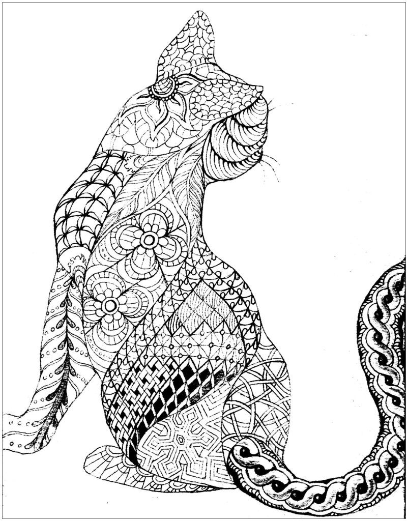 Kitten And Mother Cat Coloring Page Cat Coloring Page Mothers