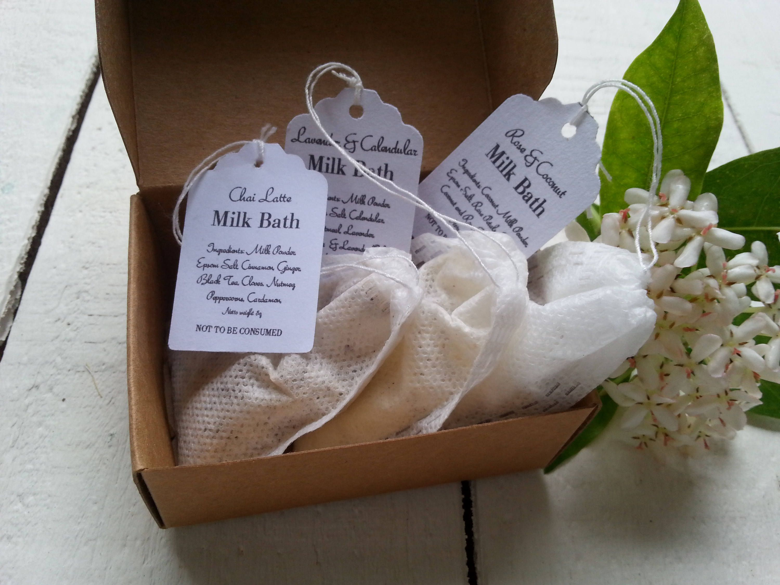 Wedding Favour Milk Bath Tea Bags, Wedding Bonbonniere Milk Bath Tea Bags, Bridesmaid Gift Bath Salt Tea Bags, Personalized Bath Salt Tea #fallmilkbath