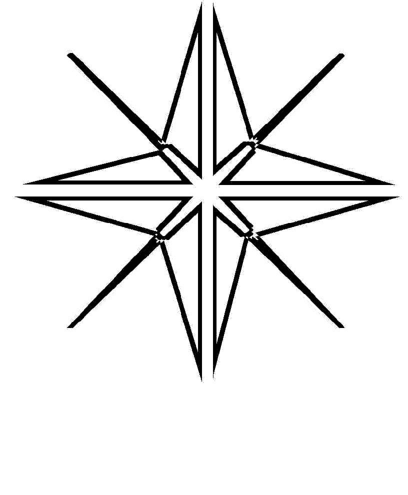 Christmas Star Of Bethlehem Coloring Page Star Of Bethlehem