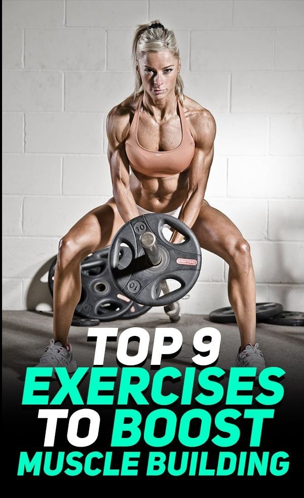 Find out how these 9 exercises can help you boost muscle building and help you build muscle faster!...