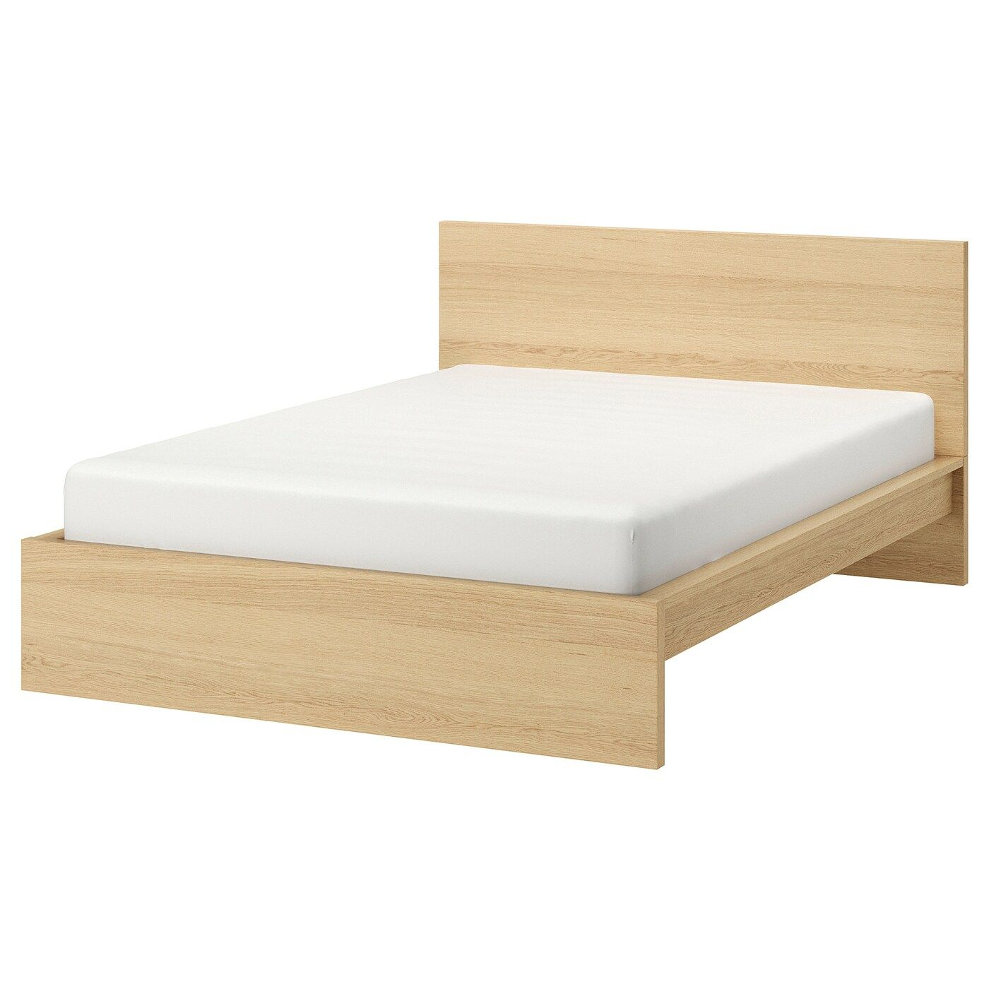 Malm Bed Frame High White Stained Oak Veneer 160x200 Cm In 2020 Bed Meubels Malm Lattenbodems