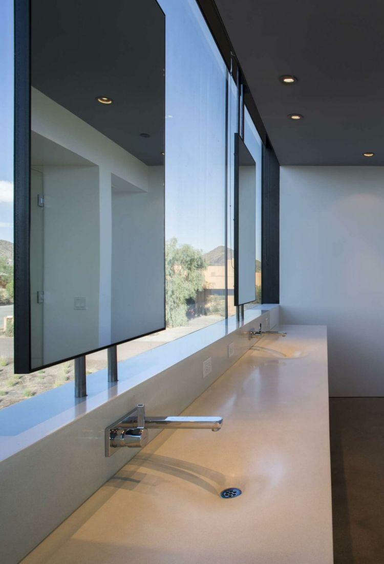 Haus badezimmer design mauerwerksichtschutzbadezimmerweisswaschkonsolewaschbecken