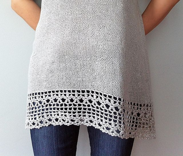 Ravelry: Julia - floral lace tunic (crochet+knit) by Vicky Chan ...
